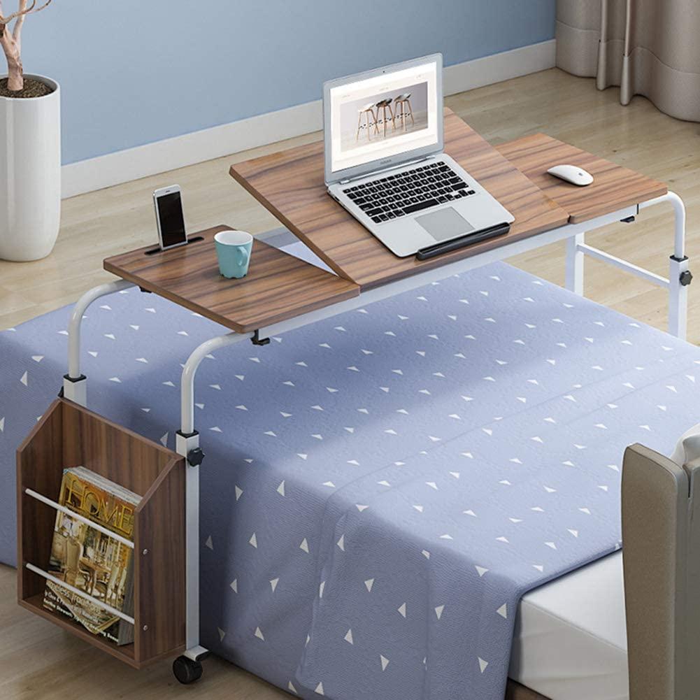 XM&LZ Home Office Desk with Shelves,Bedside Wooden Writing Desk,Modern Adjustable Computer Desk Table,Large Laptop Pc Table Workstation Bb 120x40cm(47x16inch)