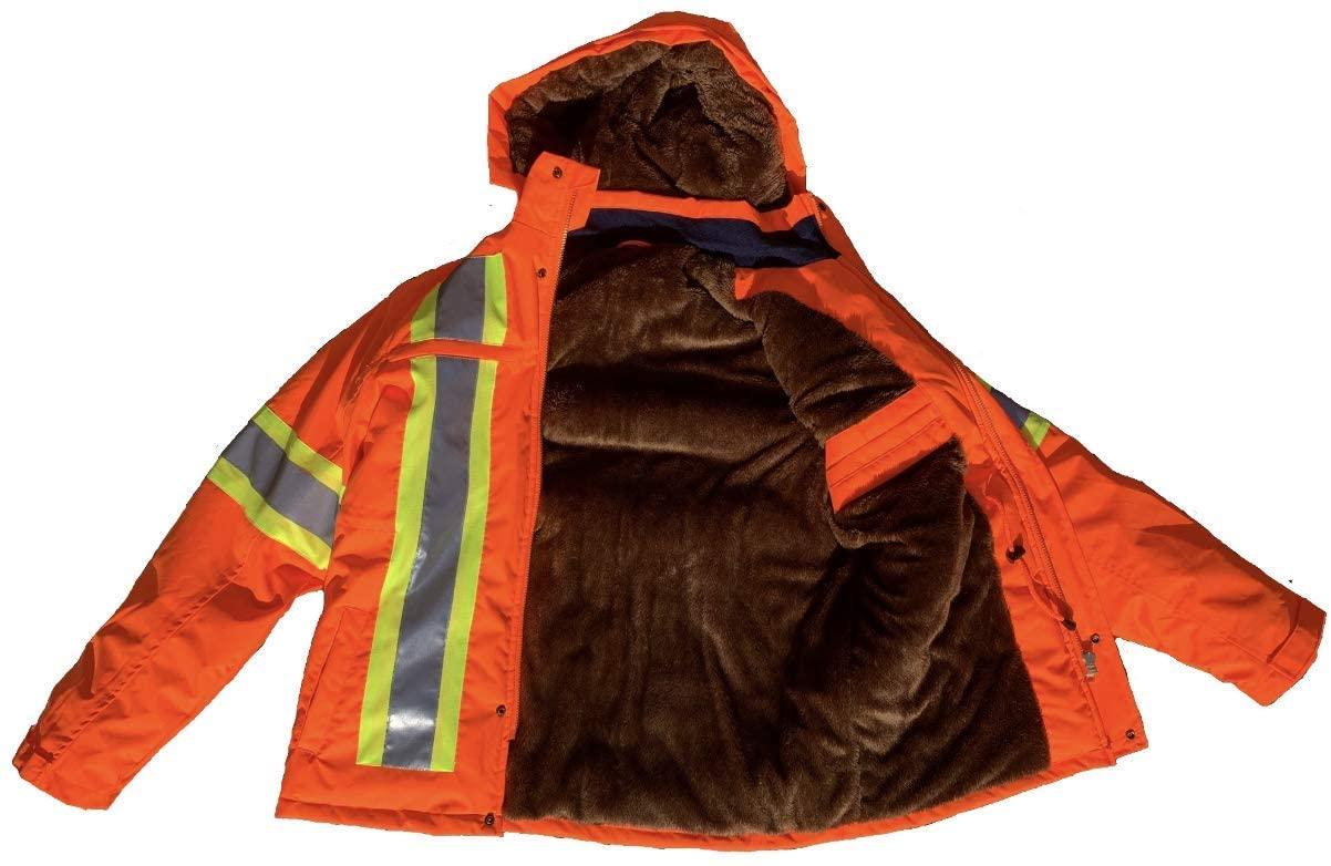 High Visibility Safety Jackets for Men - Reflective Construction Hi-Vis Jacket (Large)