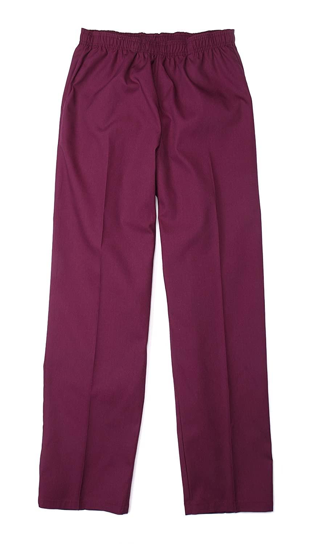 Pinnacle Textile SP63F 4.25 OZ 65/35 Polyester/Cotton, Female Elastic Waist PANT-4X-Large-Wine