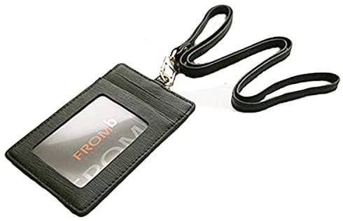 Fashion Leather Identification Card Holders lanyards
