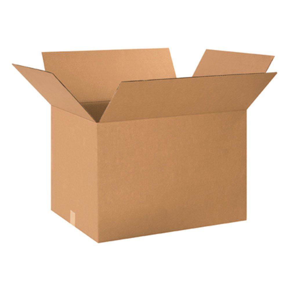 Aviditi 241816 Corrugated Cardboard Box 24 L x 18 W x 16 H, Kraft, for Shipping, Packing and Moving (Pack of 15)