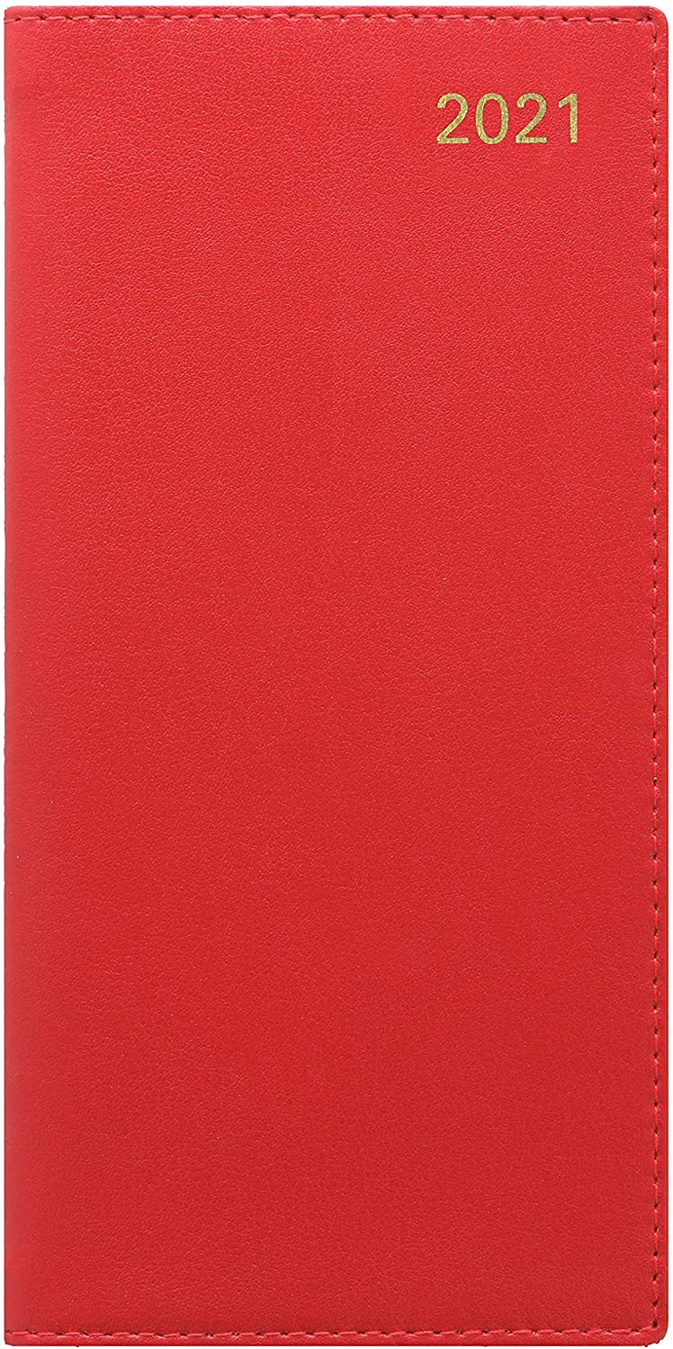 Letts Sterling Week to View 2021 Planner, Vertical Red, 6.625 x 6.25 inches (C33SURD-21)