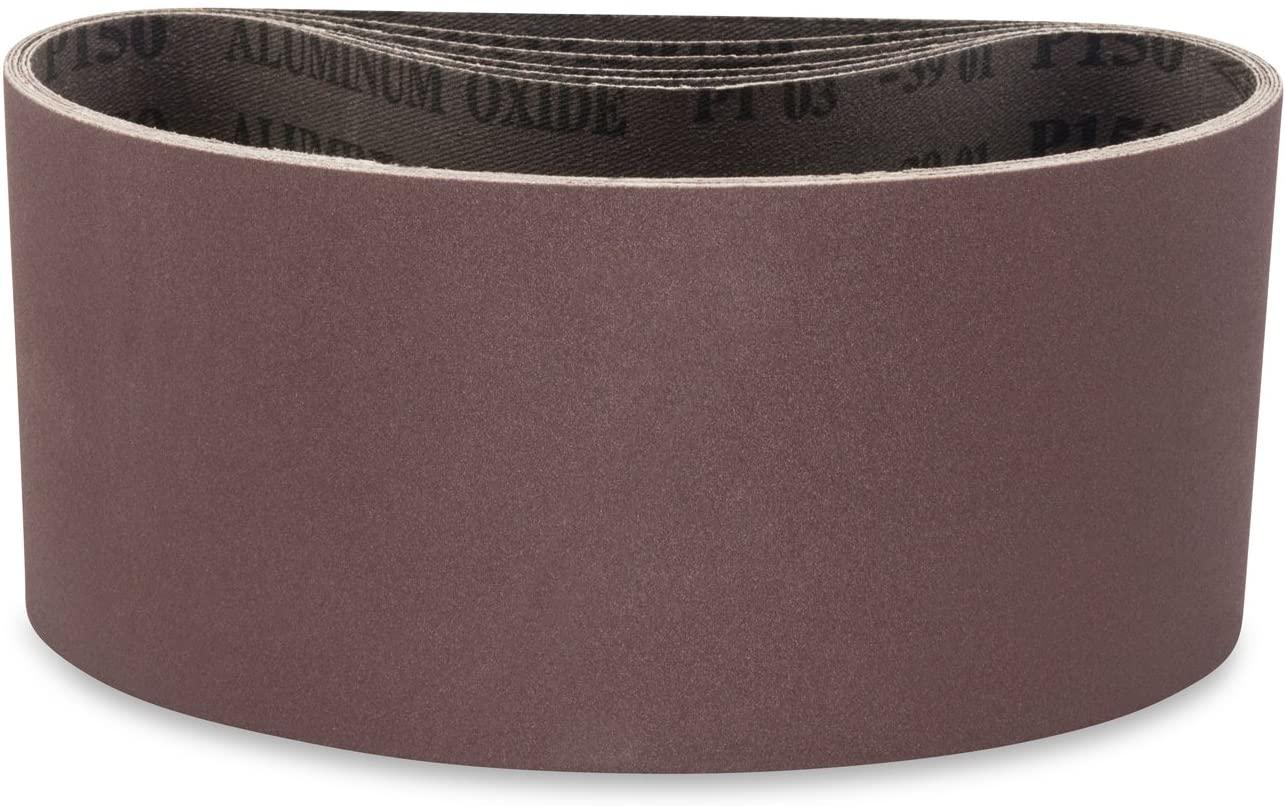 Red Label Abrasives 2 1/2 X 14 Inch 80 Grit Aluminum Oxide Premium Quality Metal Sanding Belts, 6 Pack