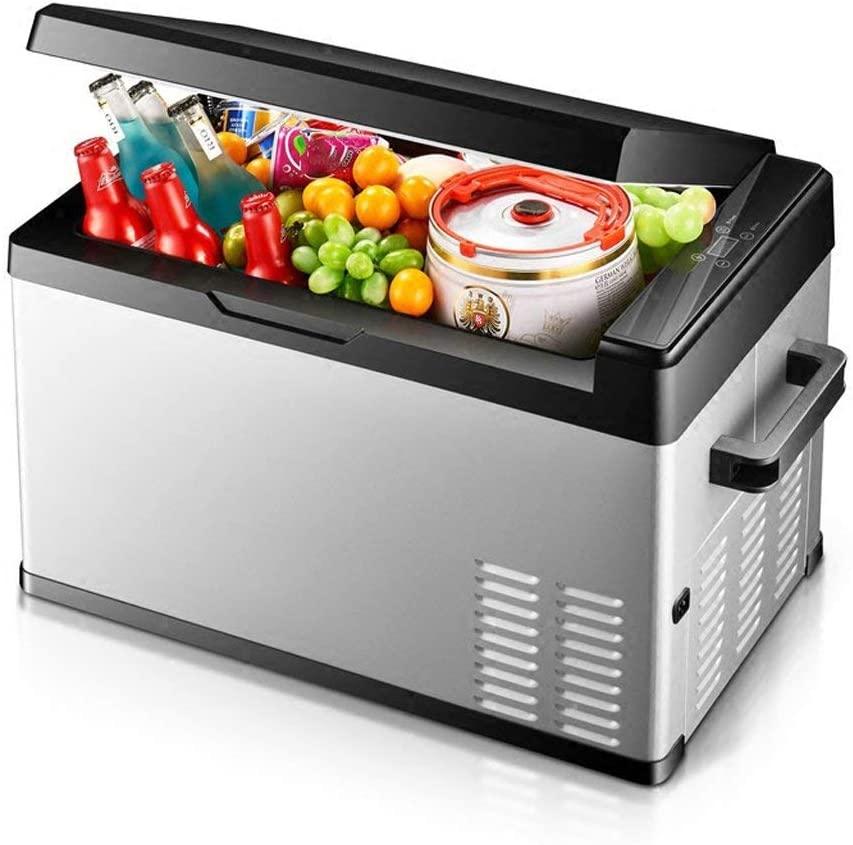 XQY Car Fridge-Portable Digital Display Compressor Fridge Freezer, 12 V/24 V,20L
