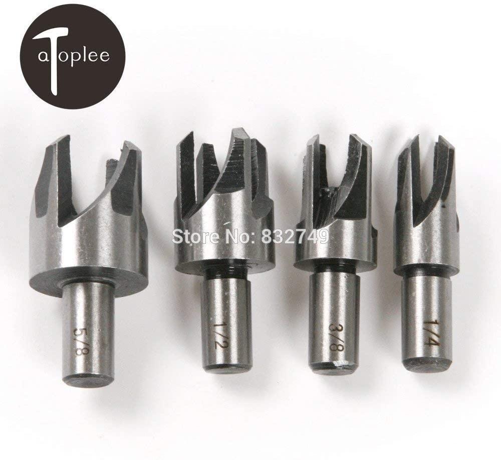 DORLIONA 4 PCS Round Shank Woodworking Tenon Drill Bit Power Tools 1/4