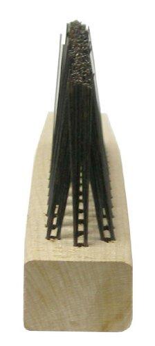 Weiler Steel Hand Wire Brush - 1 1/8 in Width x 13 3/4 in Length - 0.012 in Bristle Dia - 44594 [PRICE is per BRUSH]