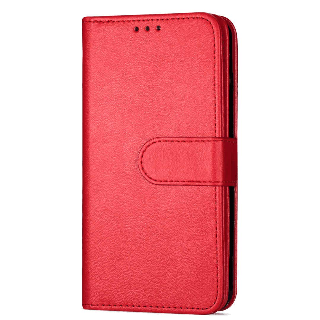PU Leather Flip Cover Compatible with Samsung Galaxy S20 Plus, Elegant red Wallet Case for Samsung Galaxy S20 Plus
