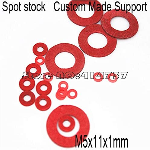 Ochoos 500pcs/lot M5111mm M5 red Insulation Washer Gasket