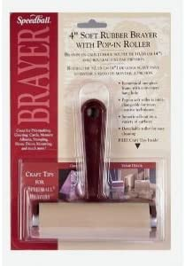 6 Pack BRAYER RUBBER 4IN POP-IN ROLL Drafting, Engineering, Art (General Catalog)