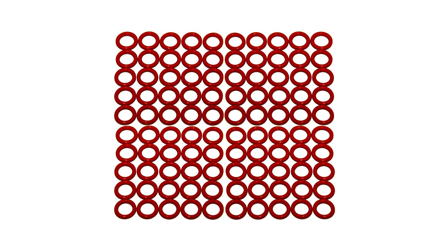 Sterling Seal ORSIL214x100 Number-214 Standard Silicone O-Ring has Excellent Resistance to Oxygen, Ozone and Sunlight, Vinyl Methyl Silicone, 70 Durometer Hardness, 1