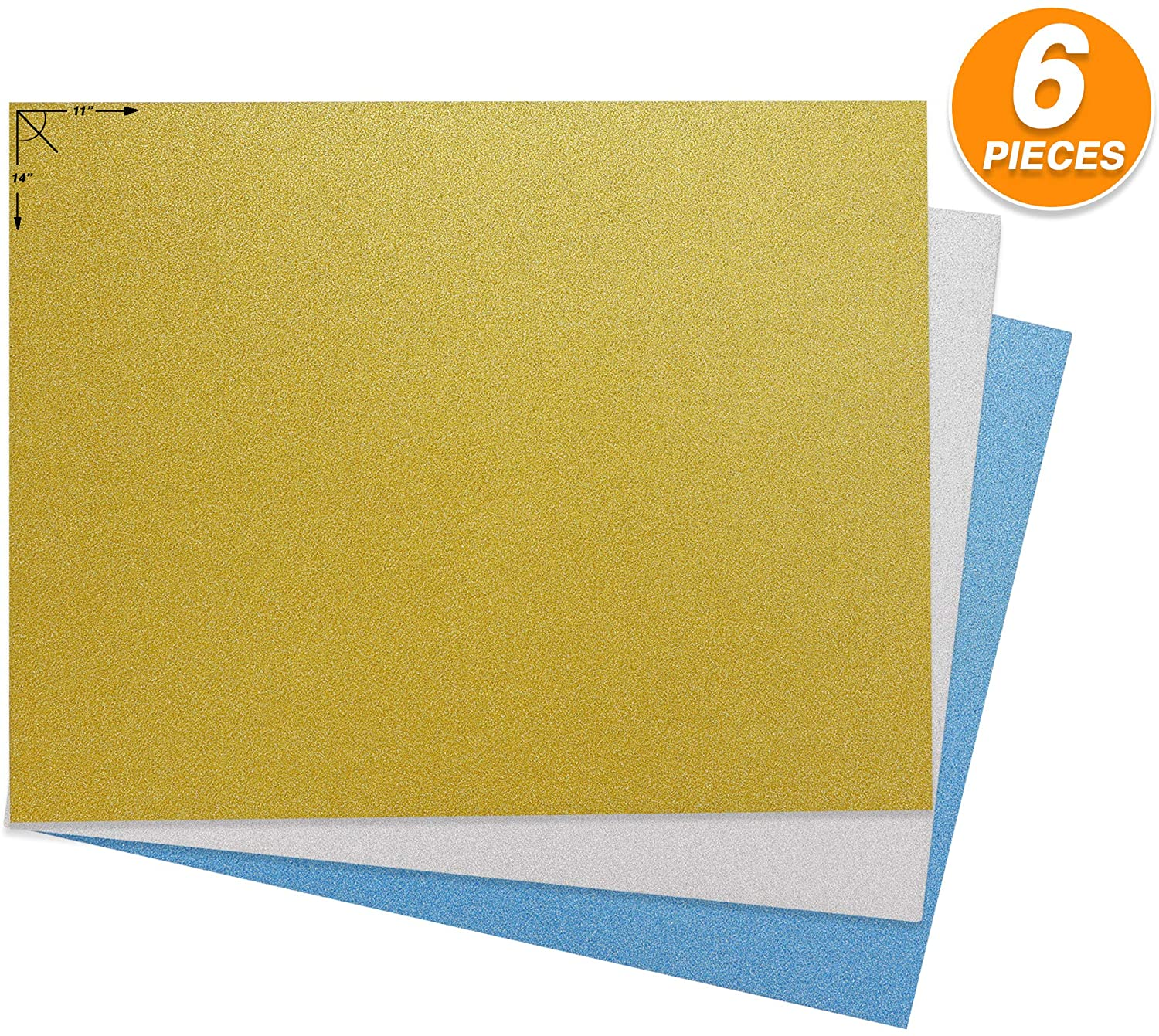Emraw Poster Board Sturdy Office Glitter Blanks Sheets Sign Scrapbooking Blank Graphic Display Board Durable for Arts and Crafts Projects Blank Board 3 per Pack (Pack of 2)