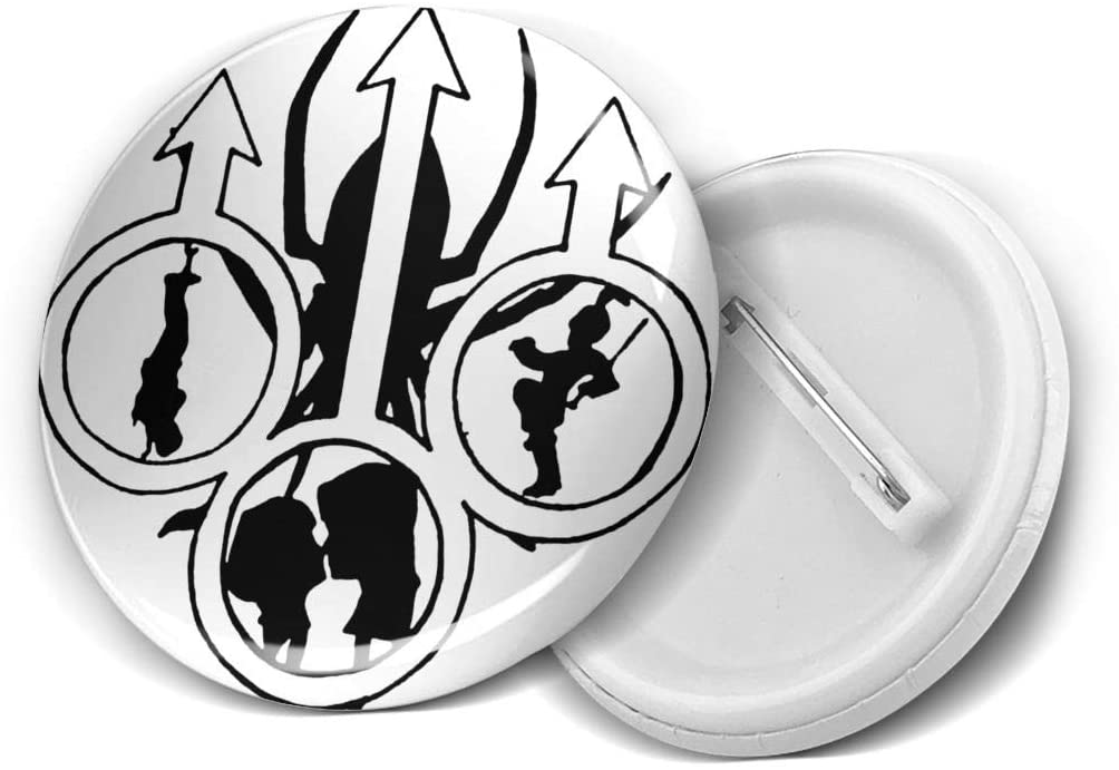 Circle Badges,Chemical Romance'Music Fans Round Badge Chest Pins Brooch.Size: Small, 5pcs