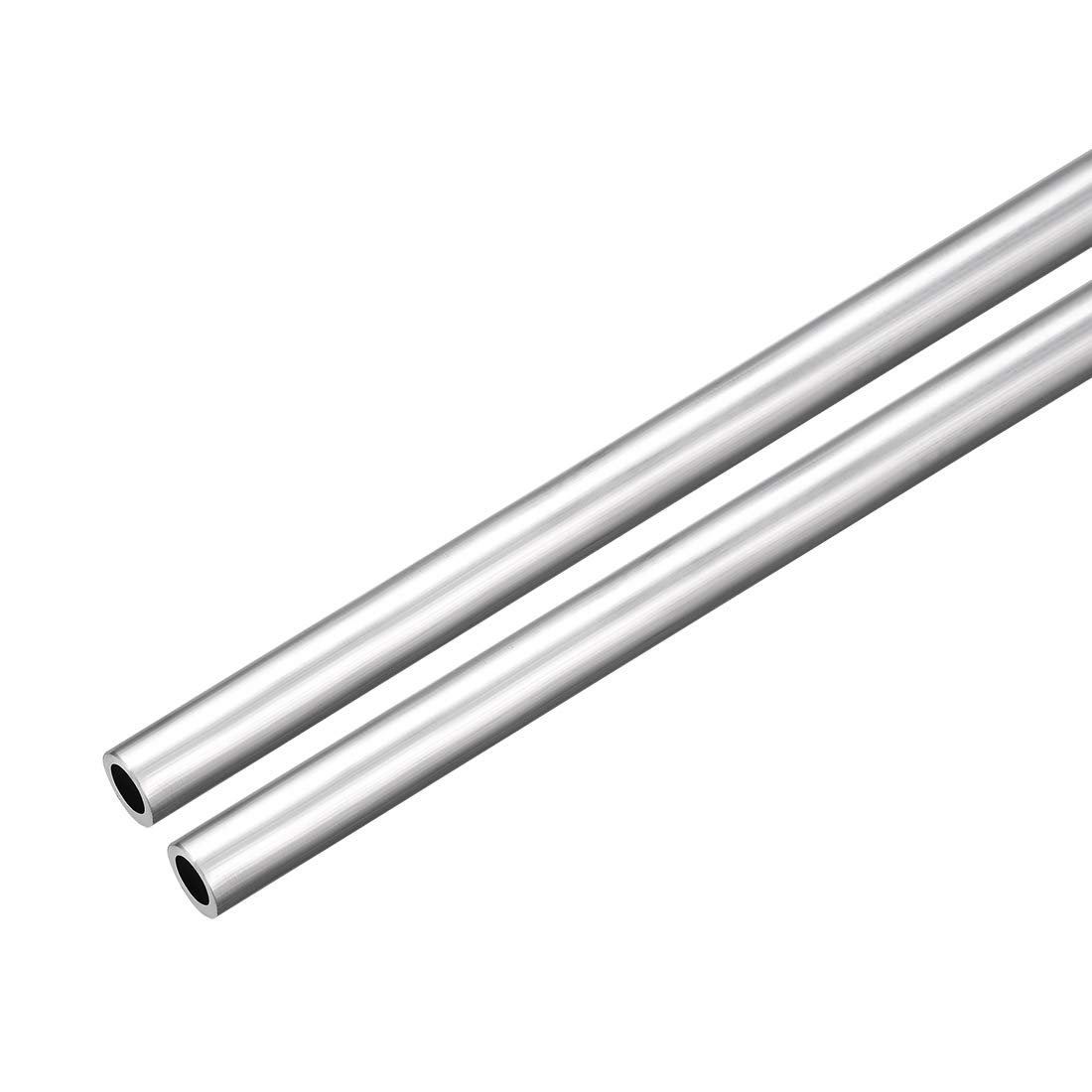uxcell 2Pcs 6063 Seamless Aluminum Round Straight Tubing Tube 1 Feet Length 0.195 Inches ID 0.273 Inches OD