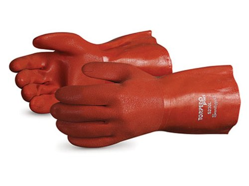 Superior S230FL Torpedo Plus Acrylic Lined Winter Glove with Soft Flexible PVC Coating, Work, Chemical Resistant, 13 Gauge Thickness, 12