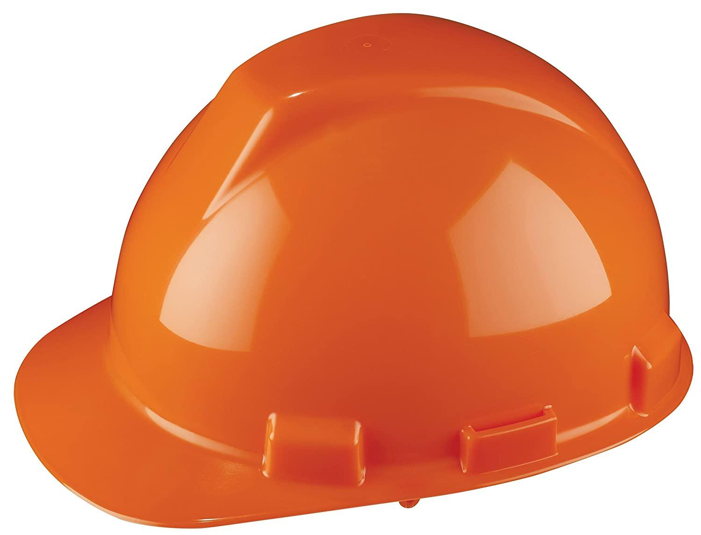 Dynamic Safety HP741R/31 Tremblant Hard Hat with 4-Point Nylon Suspension and Sure-Lock Ratchet Adjustment, ANSI Type I, One Size, Hi-Viz Orange