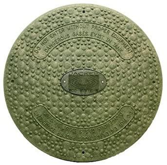 Jackel Septic Tank Riser Cover (24 Inch Diameter - GREEN)