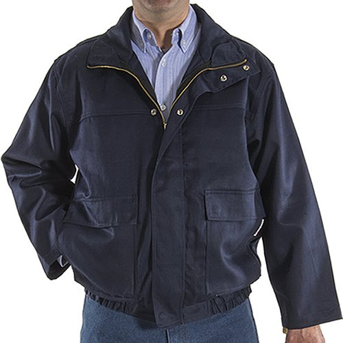 Majestic Glove 91930N/S Bomber Jacket, Unins, FR 3-in-1, NOTP, 7 oz, Small, Navy