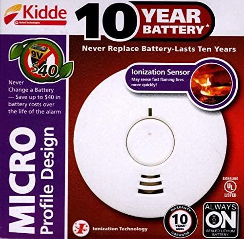 Kidde 10 Year Battery, Ionization Smoke Alarm I1040