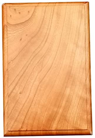 Wagler Awards Plaque, Cherry Rectangular, Bead Edge, 4 L x 6 W