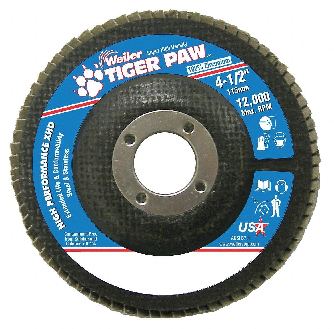 Abrasive Flap Disc, Medium, 4-1/2 in.
