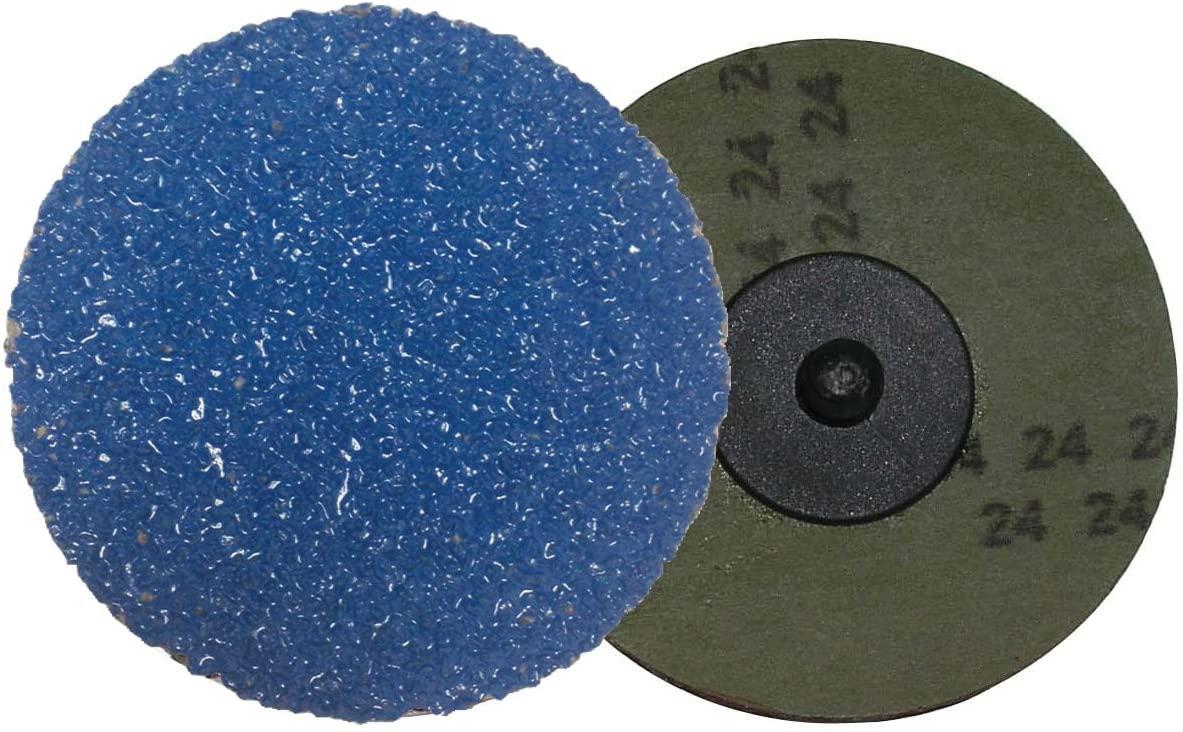 Shark 3220ZGT 2-Inch Grit-24 Resin Fiber Zirconia Grinding Discs, 25 -Pack