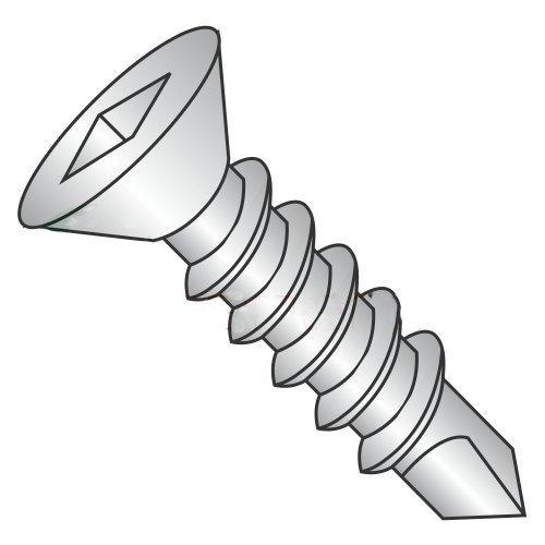 #14 x 1 1/4 Self-Drilling Screws/Square/Flat Head / 18-8 Stainless Steel / #3 Drill Point (Carton: 500 pcs)