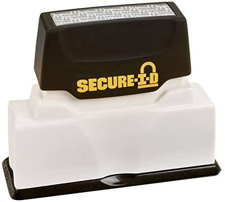 COSCO Secure I-D Security Stamp, Pre-Ink, 2 3/8