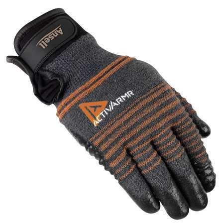 Cut Resistant Gloves, Black/Gray, XL, PR