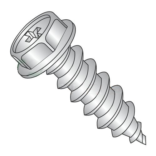 #6 x 3/4 Type A Self-Tapping Screws/Phillips/Hex Washer Head/18-8 Stainless Steel (Carton: 5,000 pcs)