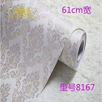 DORLIONA European Wallpaper PVC self - Adhesive Wallpaper Color Film Wallpaper Waterproof Pastoral wallpaper-98 Color 3 Dimensions Width is 60cm