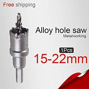 DORLIONA 18mm : 15/16/17/18/19/20/21/22mm Alloy Hole Saw Stainless Steel Hole Saw Metal Cutting Metalworking Metal Drilling Core Drill bit
