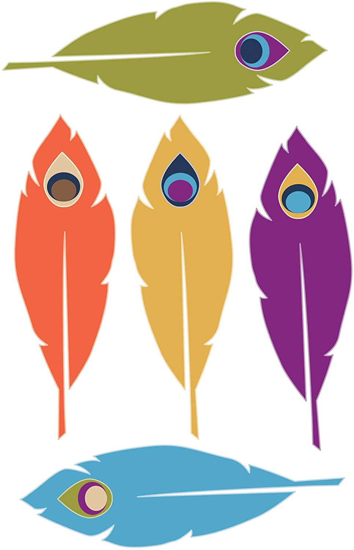 Carson Dellosa – You-Nique Feathers Colorful Cut-Outs, Classroom Décor, 42 Pieces