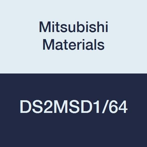 Mitsubishi Materials DS2MSD1/64 DS2MS Series Carbide Diamond Star Square Nose End Mill, Medium Flute, General Use, 2 Flutes, 0.0156