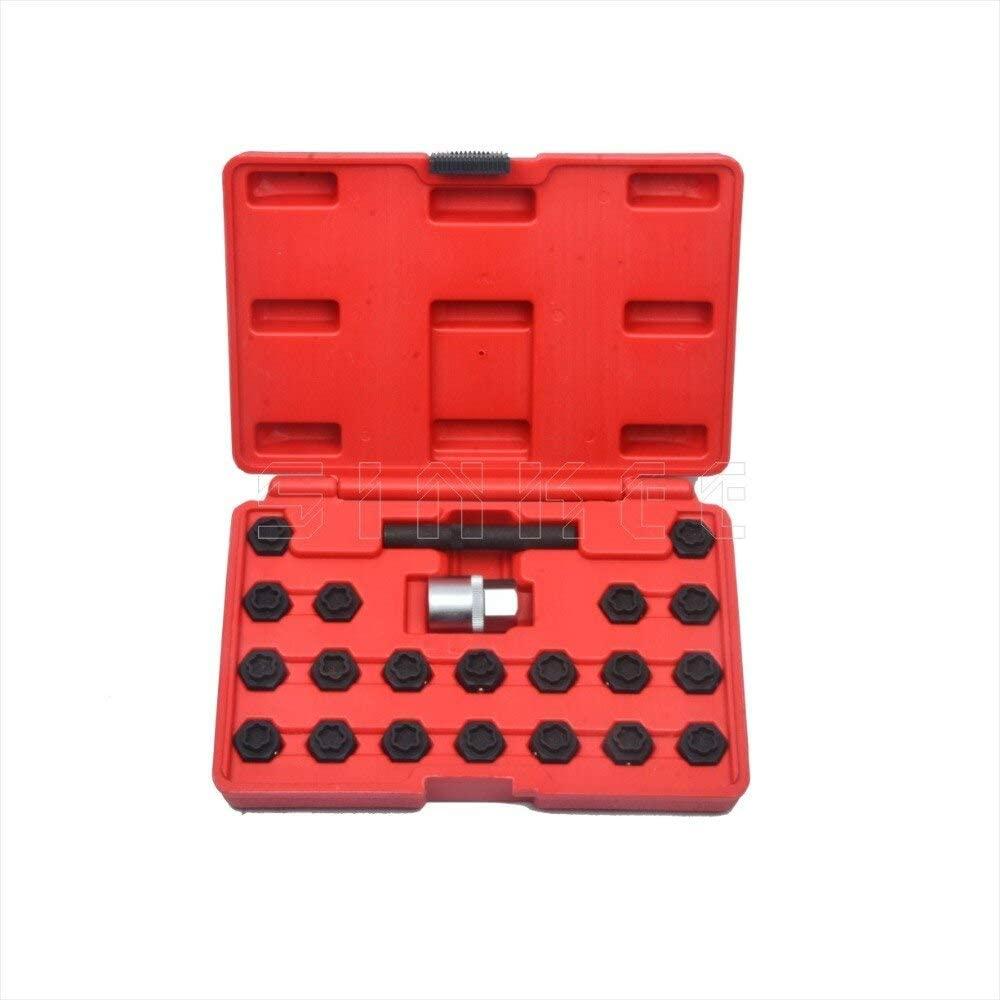 Engine Care 22Pc Locking Wheel Nut Key Socket Set For Bmw 1 3 4 5 6 7 Series 1/2