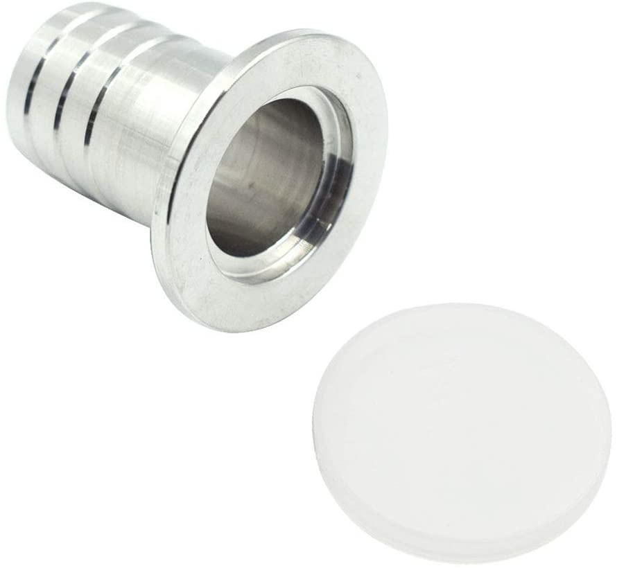 TUOREN KF25 Flange to 25mm Hose Barb Adapter for Vacuum 304 Stainless Steel -1pc