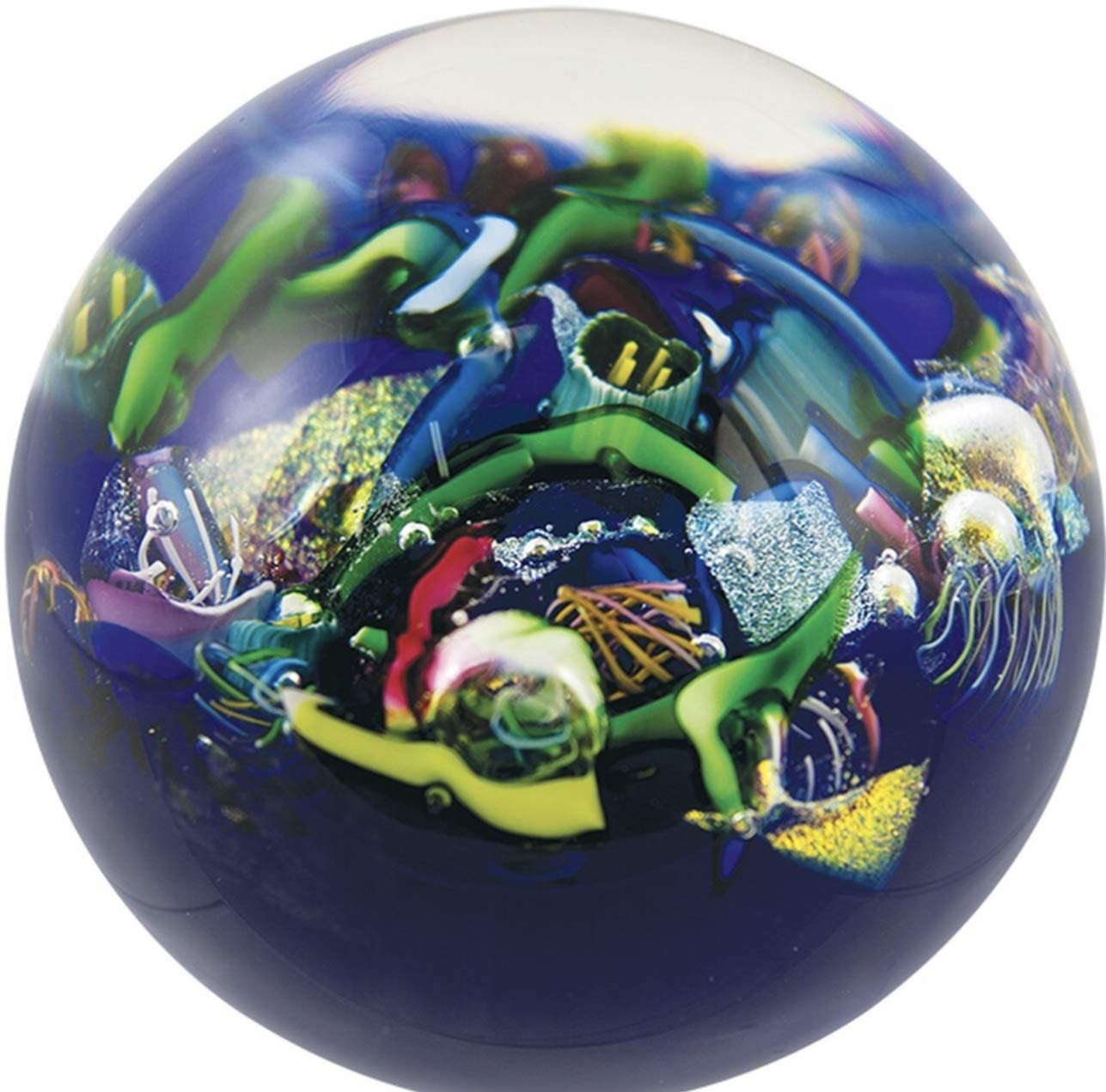 Glass Eye Studio End of The Day Paperweight Boxed