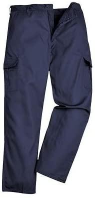 Portwest UC701NAR44 Regular Fit Cargo Pants, Size 44, Navy