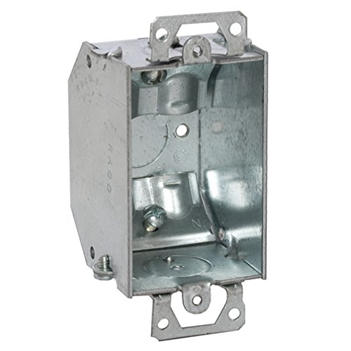 Hubbell-Raco 471 Switch Box with Plaster Ears, Beveled Box 2-1/4