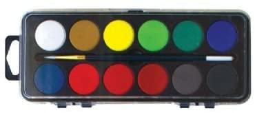 6 Pack WATERCOLOR SET/12 Drafting, Engineering, Art (General Catalog)