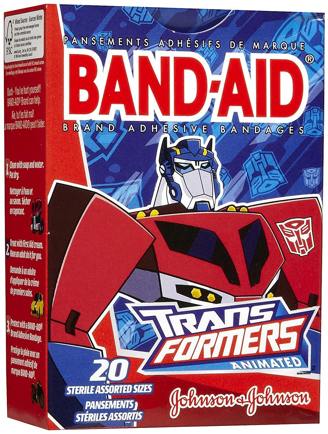 Band-Aid Children's Transformers Adhesive Bandages-20ctAssorted Sizes