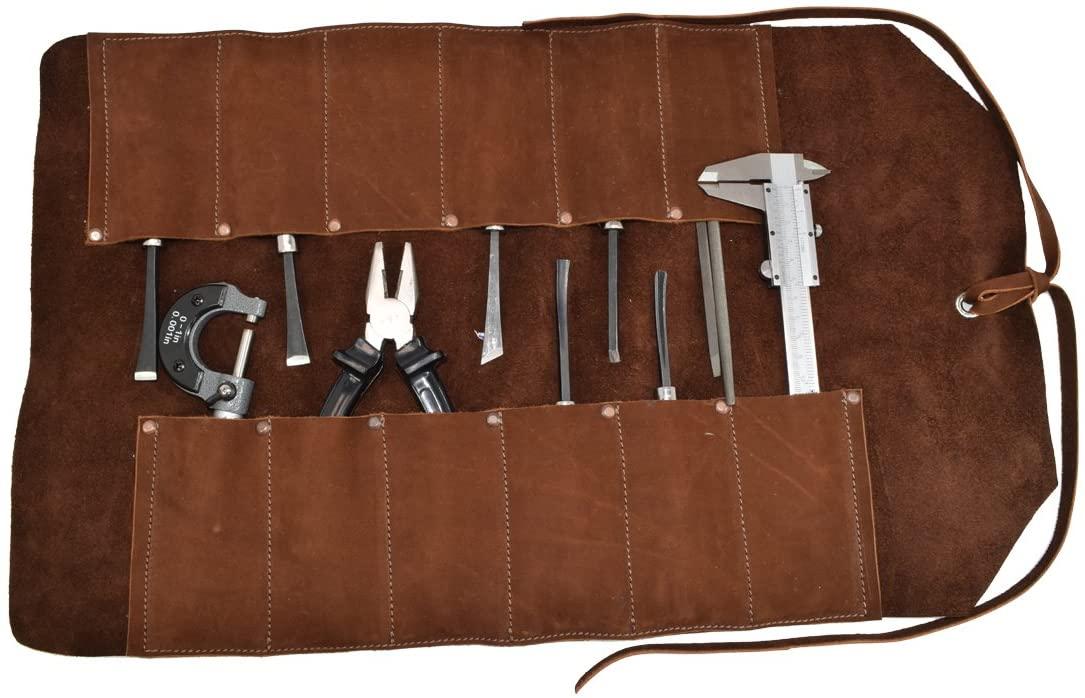 Big Tool Roll Handmade by Hide & Drink :: Swayze Suede