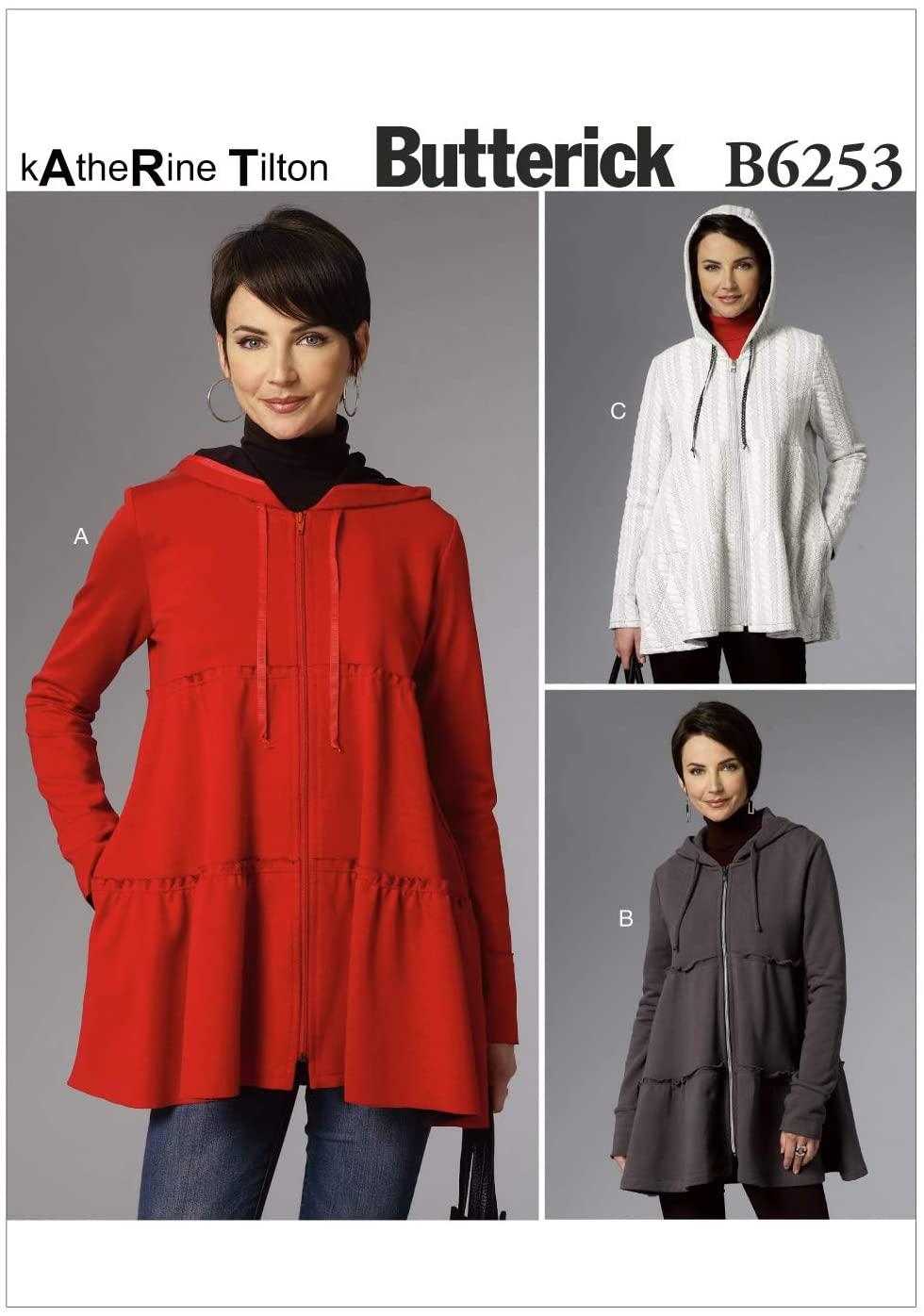BUTTERICK PATTERNS B62530Y0 Misses Jacket, Y (XSM-SML-MED)
