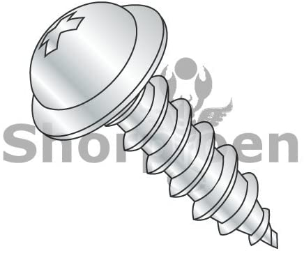10-12X3/4 Phillips Round Washer Self Tapping Screw Type A Fully Threaded Zinc and Bake - Box Quantity 4000 by Shorpioen BC-1012APRW