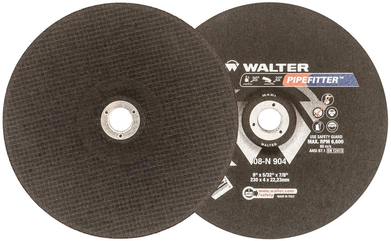 Walter 08N904 9x5/32x7/8 Pipefitter Contaminant Free Grinding Wheels Type 27, 25 pack