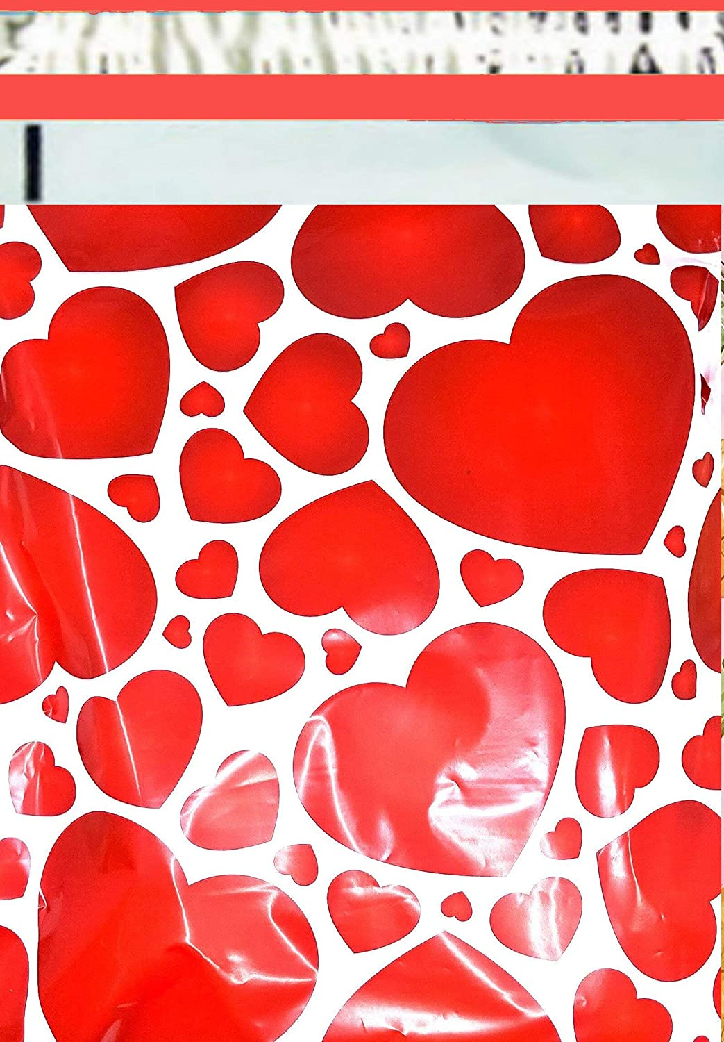 2.5 Mil 200 10x13 (Red Hearts) Color Boutique Designer Poly Mailers Shipping Bags