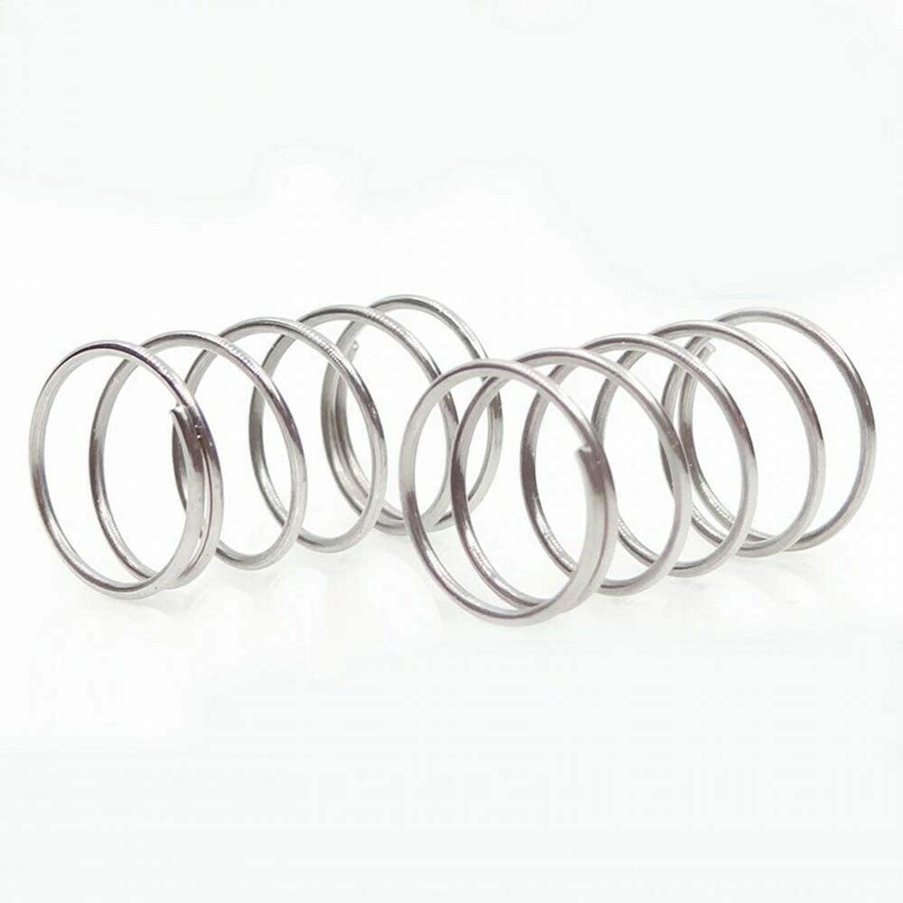 0.3mm Wire Dia. Compression Pressure Small Springs 304 Stainless Steel Spring (50Pcs, 0.3230 mm)