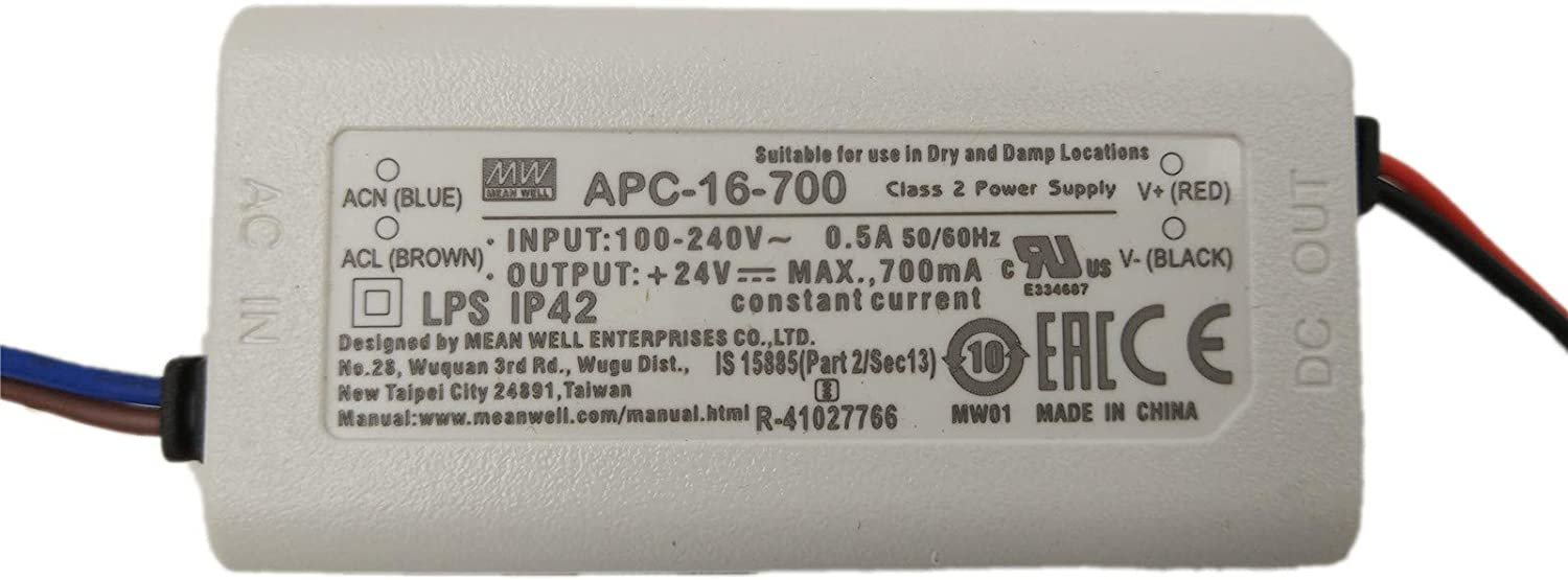 Meanwell APC 16 700 16W Single Output LED constant current driver