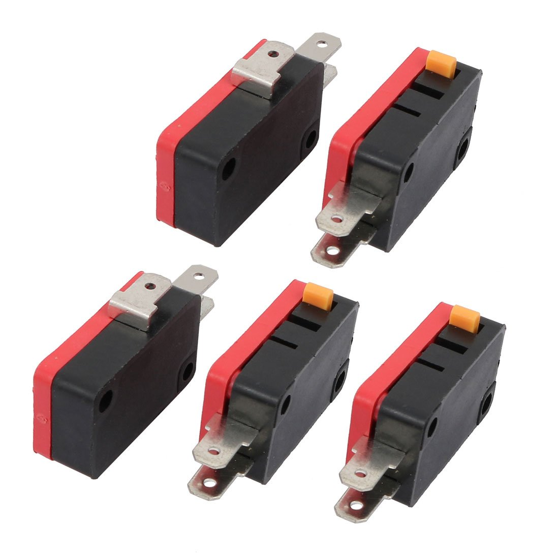 uxcell 5Pcs SPDT 1NO 1NC 3 Pins Momentary Push Button Micro Limit Switch