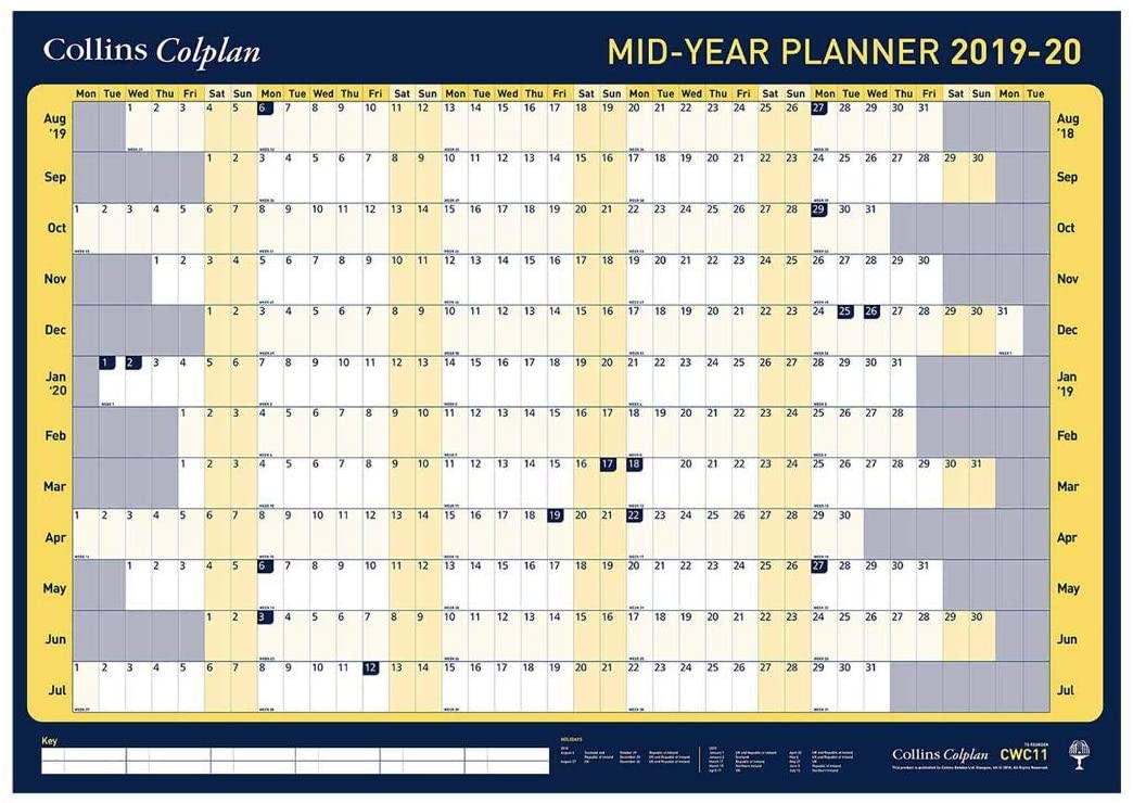 Collins Colplan A1 2019-2020 Wall Planner