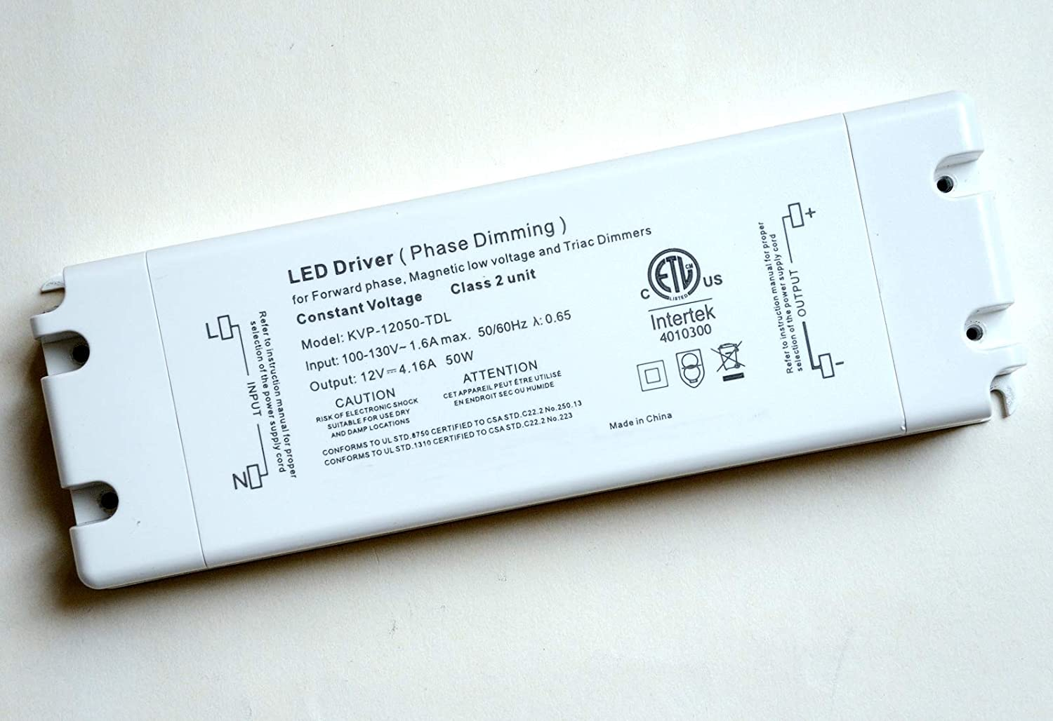 12v 50w dimmable LED driver power supply transformer adapter PD